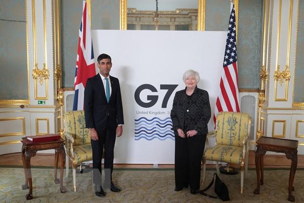 "G7 tien sat den mot ""thoa thuan lich su"" ve thue doanh nghiep toan cau hinh anh 1"