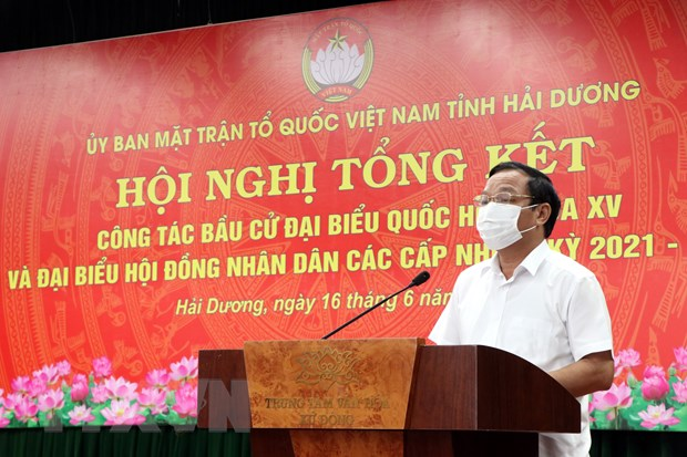 Thua Thien-Hue, Hai Duong tong ket cong tac bau cu dai bieu Quoc hoi hinh anh 2