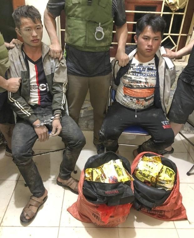 Dien Bien: Bat 2 doi tuong mua ban 21kg ma tuy da va 8 banh heroin hinh anh 2