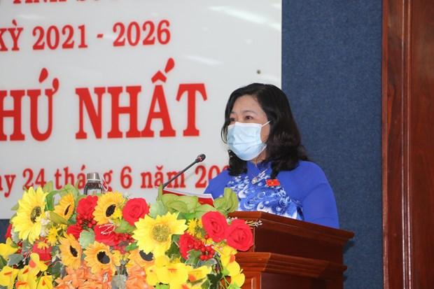 Ba Ho Thi Cam Dao duoc bau giu chuc Chu tich HDND tinh Soc Trang hinh anh 1