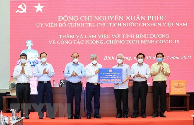 Chu tich nuoc: Binh Duong can han che ca nhiem, khong dan den qua tai hinh anh 3