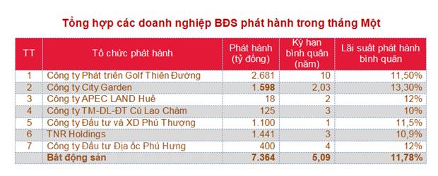 Thang Mot: Doanh nghiep bat dong san day manh phat hanh trai phieu hinh anh 2