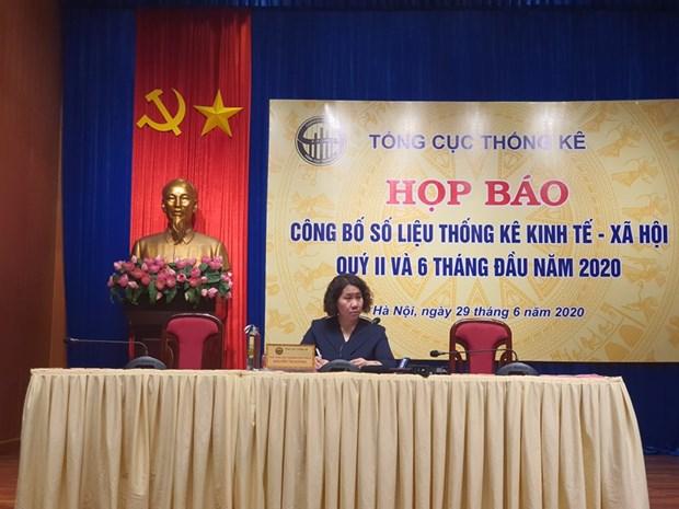 Tong cuc Thong ke: GDP trong 6 thang thap nhat mot thap ky qua hinh anh 1