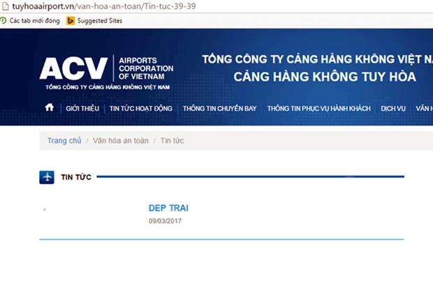 Vu hacker 15 tuoi tan cong web san bay