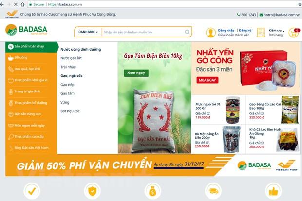 "Buu dien Viet Nam ""nhay"" vao linh vuc kinh doanh hang dac san hinh anh 1"