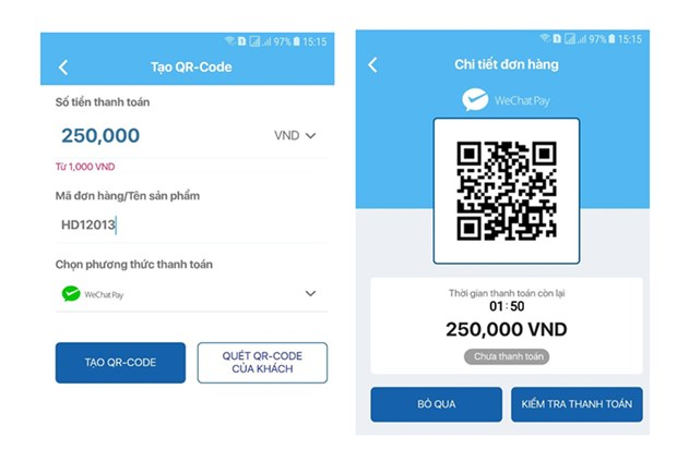 Vi dien tu Vimo ket noi thanh toan xuyen bien gioi voi Wechat Pay hinh anh 1