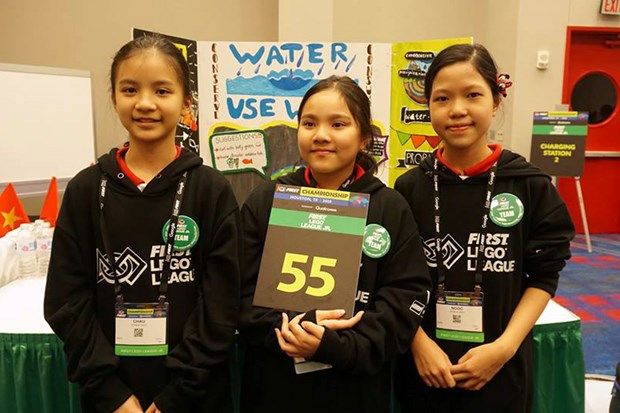 Hoc sinh Viet gianh giai cao nhat cuoc thi First Lego League 2018 hinh anh 1