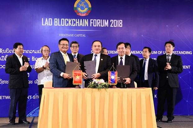Start-up Viet va Lao hop tac thanh lap Vien Nghien cuu Blockchain hinh anh 1