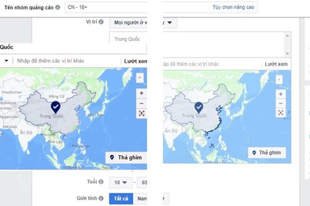 Facebook: 'Hoang Sa, Truong Sa' se khong hien thi thuoc Trung Quoc hinh anh 1
