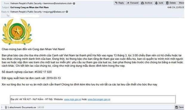 Hacker gia mao thu cua Bo Cong An phat tan ma doc tong tien hinh anh 1