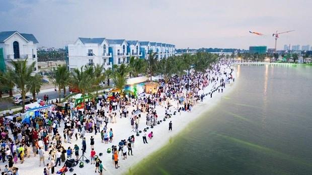 'Song ao khong goc chet ' o 'thanh pho bien ho Vinhomes Ocean Park' hinh anh 1