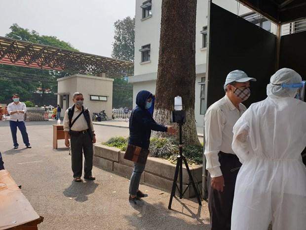 [Photo] Kiem soat phong chong dich chat che tai Benh vien Huu Nghi hinh anh 7