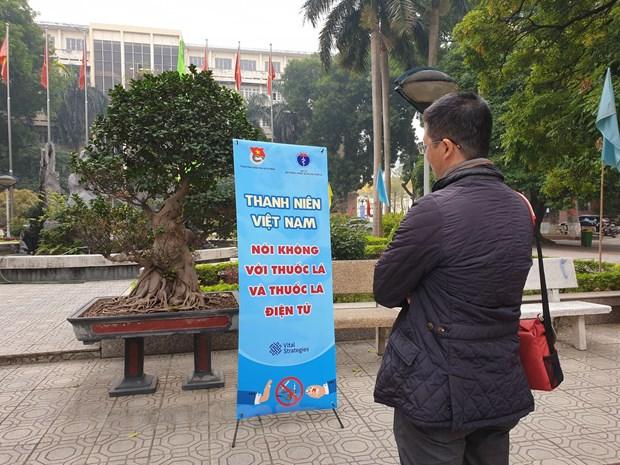 Thanh nien Viet Nam noi khong voi thuoc la va thuoc la dien tu hinh anh 1