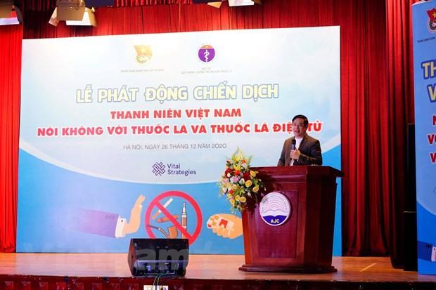 Thanh nien Viet Nam noi khong voi thuoc la va thuoc la dien tu hinh anh 2