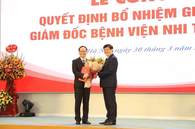 Pho giao su Tran Minh Dien lam Giam doc Benh vien Nhi Trung uong hinh anh 1