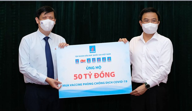 Bo Y te tiep nhan 185 ty dong ung ho Quy vaccine phong COVID-19 hinh anh 1