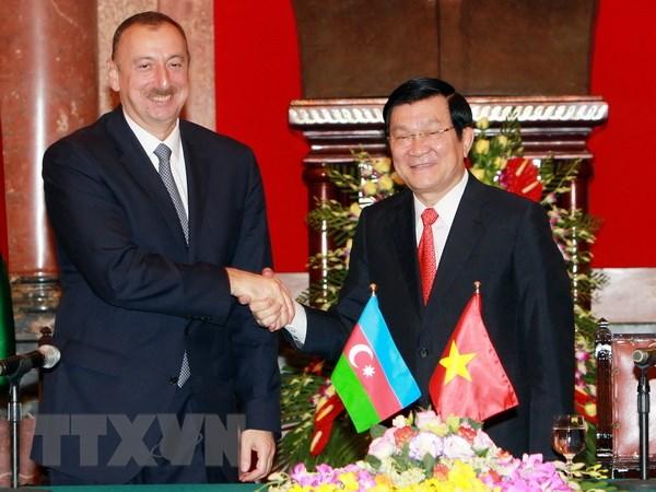 Tong thong Azerbaijan ket thuc tot dep chuyen tham Viet Nam hinh anh 1