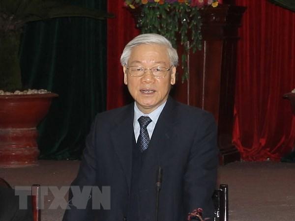 Tong Bi thu Nguyen Phu Trong tra loi phong van Hang thong tan TASS hinh anh 1