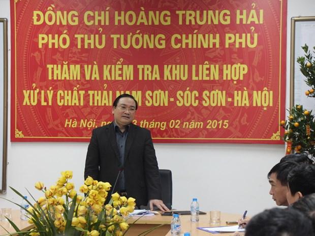 PTT Hoang Trung Hai: Ha Noi tien toi xu ly rac de san xuat dien hinh anh 1