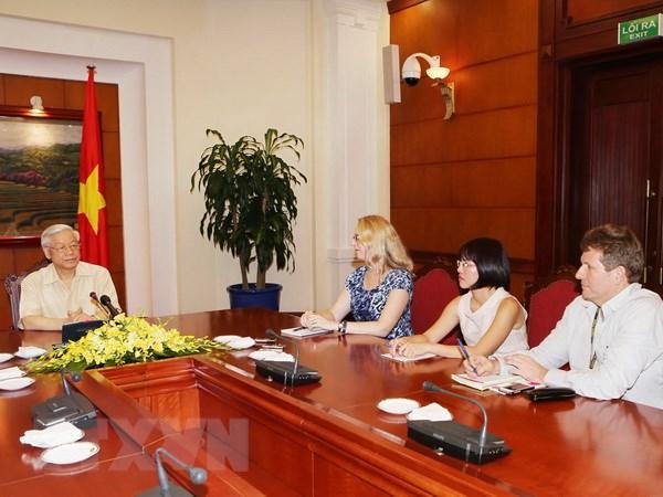 Tong Bi thu Nguyen Phu Trong tra loi phong van bao chi Hoa Ky hinh anh 1