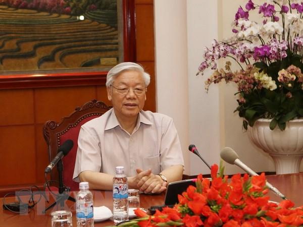 Tong Bi thu Nguyen Phu Trong len duong tham chinh thuc Nhat Ban hinh anh 1