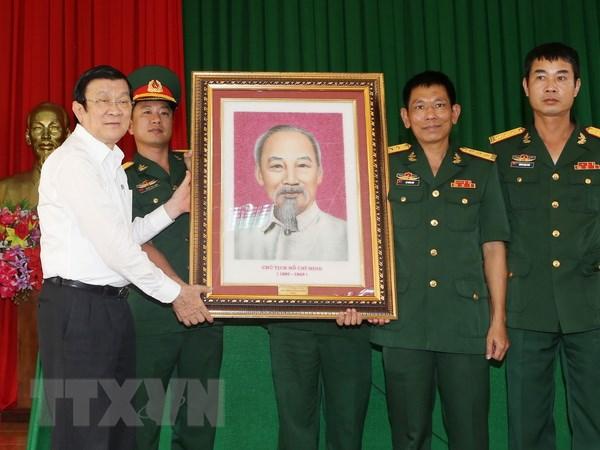Chu tich nuoc tham bo doi va dong bao cac dan toc tinh Dak Nong hinh anh 2