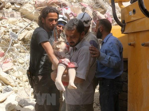 Syria: It nhat 30 nguoi thiet mang trong cac cuoc tan cong o Aleppo hinh anh 1