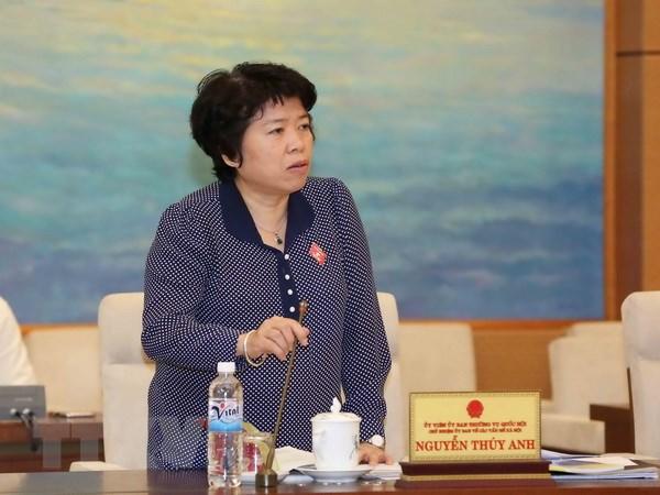 Ba Nguyen Thuy Anh duoc bau lam Chu nhiem Uy ban ve cac van de xa hoi hinh anh 1