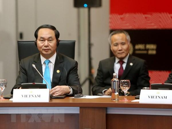 Chu tich nuoc Tran Dai Quang tham du Tuan le Cap cao APEC 2016 hinh anh 1