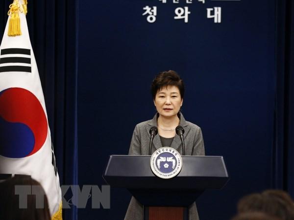Ba Park Geun-Hye tu chuc khong anh huong cuoc gap Nhat-Han-Trung hinh anh 1