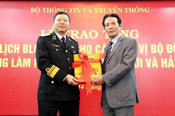 Bo Thong tin va Truyen thong tang lich cho chien sy bien gioi, hai dao hinh anh 1