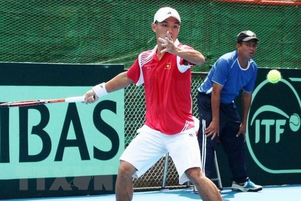 Hoang Thien that bai trong tran dau tien vong loai Davis Cup 2017 hinh anh 1