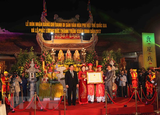 Le hoi den Tran Thuong la Di san van hoa phi vat the quoc gia hinh anh 1