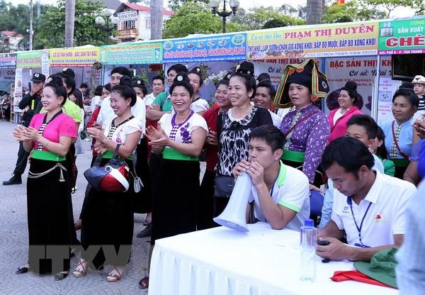 70.000 luot khach den voi Le hoi Hoa ban Dien Bien 2017 hinh anh 1