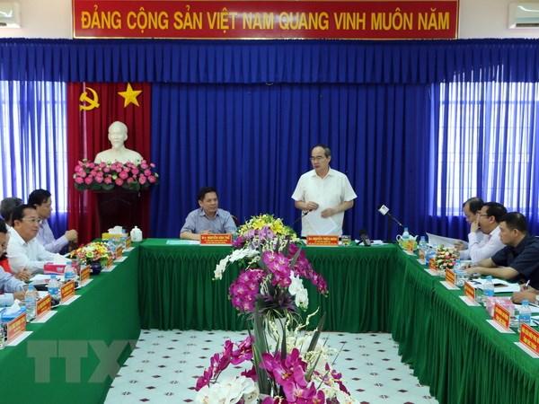 Chu tich MTTQ Nguyen Thien Nhan chuc Tet dong bao Khmer Soc Trang hinh anh 1