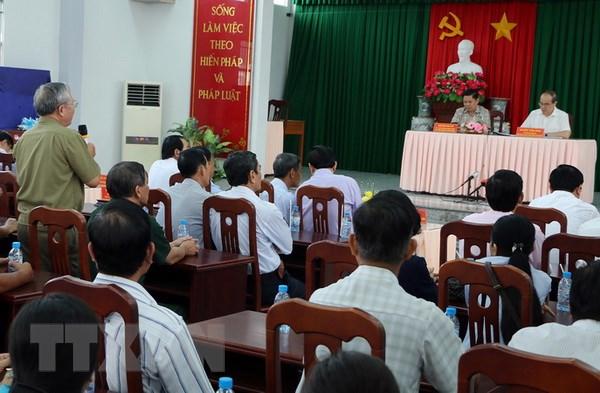 Chu tich MTTQ Nguyen Thien Nhan chuc Tet dong bao Khmer Soc Trang hinh anh 2