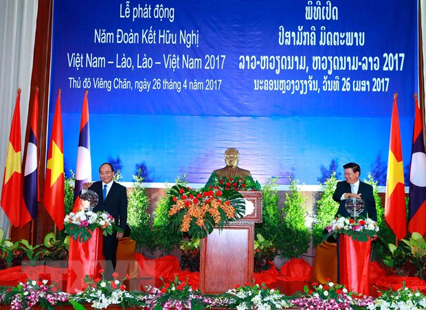 Le phat dong Nam Doan ket Huu nghi Viet Nam-Lao 2017 hinh anh 1