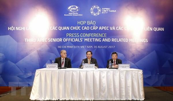 Be mac Hoi nghi lan thu ba cac quan chuc cao cap APEC 2017 hinh anh 1