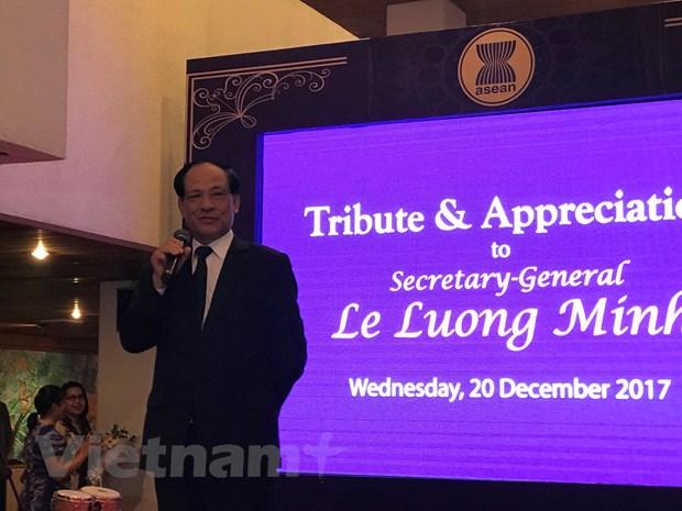Ong Le Luong Minh chuan bi ket thuc nhiem ky Tong Thu ky ASEAN hinh anh 1
