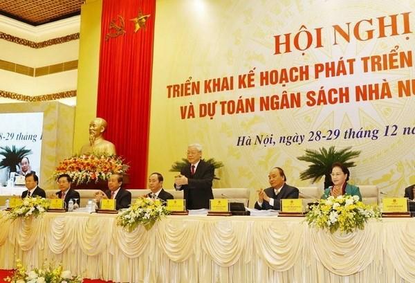 Tong Bi thu du Hoi nghi truc tuyen giua Chinh phu voi cac dia phuong hinh anh 1