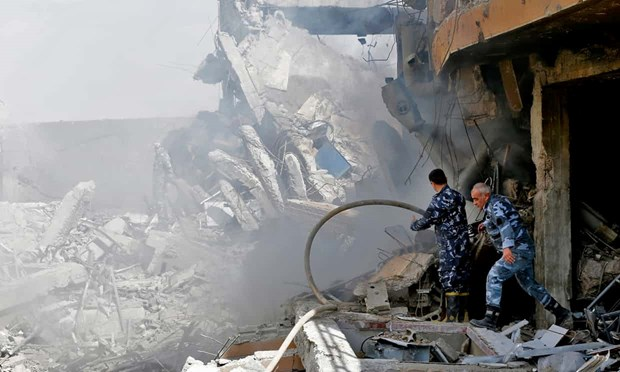 Tranh cai ve so lieu ten lua lien quan My-Anh-Phap bi Syria ban ha hinh anh 1