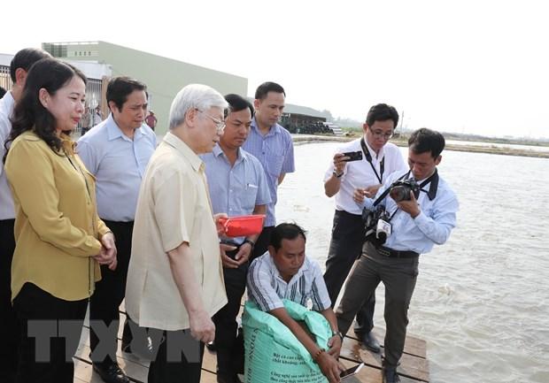 Tong Bi thu Nguyen Phu Trong tham, lam viec tai tinh An Giang hinh anh 3