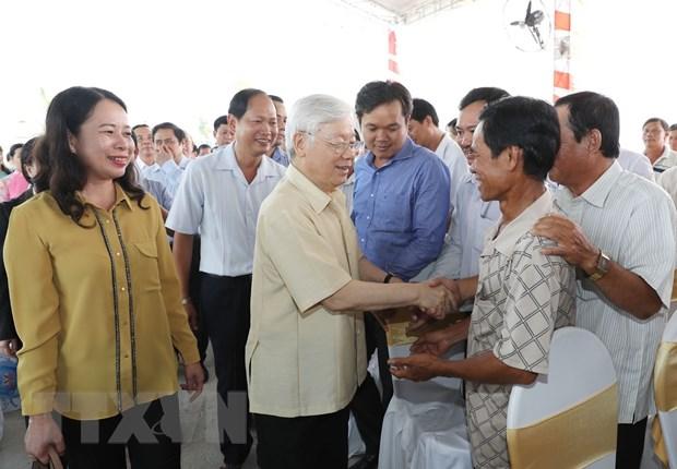Tong Bi thu Nguyen Phu Trong tham, lam viec tai tinh An Giang hinh anh 4