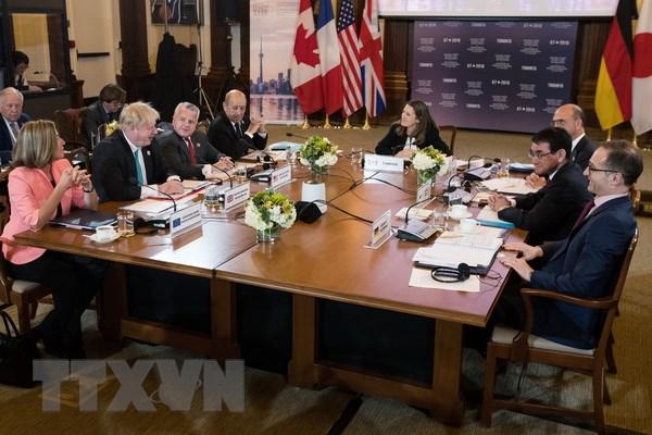 Nhom G7 tim kiem cach tiep can chung trong nhung van de nong hinh anh 1