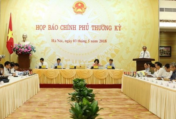 Hop bao Chinh phu thang 4: Giai dap nhieu van de du luan quan tam hinh anh 1
