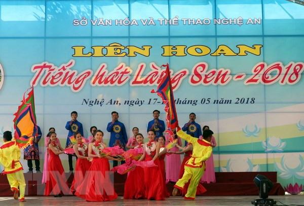 600 nghe sy tham gia bieu dien khai mac Le hoi Lang Sen 2018 hinh anh 1