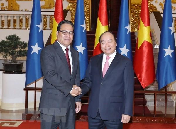 Thu tuong Nguyen Xuan Phuc tiep Chu tich Quoc hoi Micronesia hinh anh 1