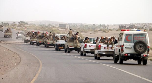 Cac luc luong Yemen bat dau tien vao san bay Hodeidah hinh anh 1