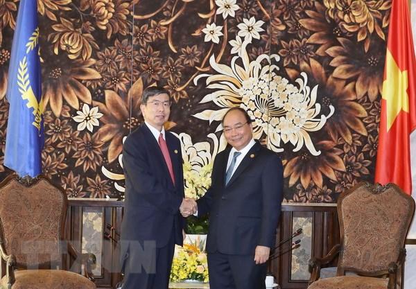 Thu tuong Nguyen Xuan Phuc tiep lanh dao WB, ADB ben le Hoi nghi GEF6 hinh anh 2