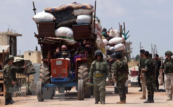 Quan doi Syria thu giu vu khi co xuat xu tu Phap o Daraa hinh anh 1